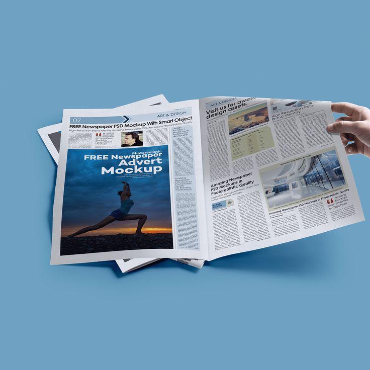 25 Newspaper Ad Mockup Templates Psd Print Ads Photoshop Mockup Free Free Prints