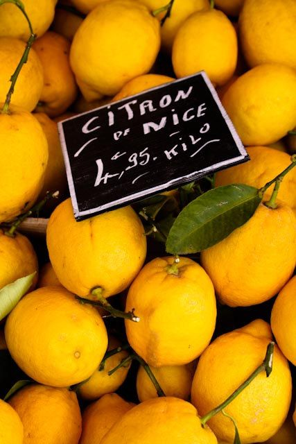Food Photography - Citron of Nice - Fresh Yellow Lemons -  Nice, France 8x10 fine art photograph - French Riviera - kitchen wall art. $30.00, via Etsy.