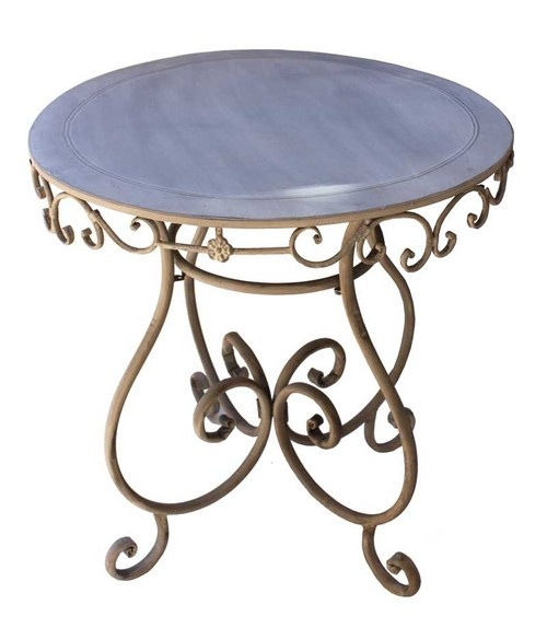 The Fiore Round table will look great both indoor and outdoor, as the design is it will look great in the garden, combined with wrought iron chairs.