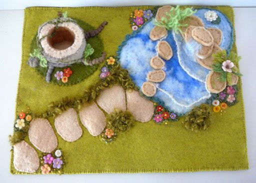Again presenting pictures to inspire. This time revealing a garden of delights that was sent to Sydney recently, and is a seasonal item or playmat reflecting Spring or Summer. Maybe it is a magi...