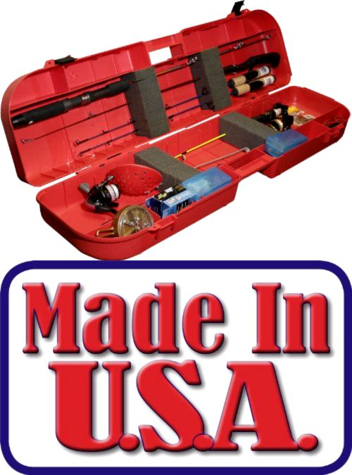 Ice Fishing Rods 179947: Ice Fishing Rod Box Case Storage Lockable Camping Hold 8 Rodsandtackle Made In Usa BUY IT NOW ONLY: $41.78