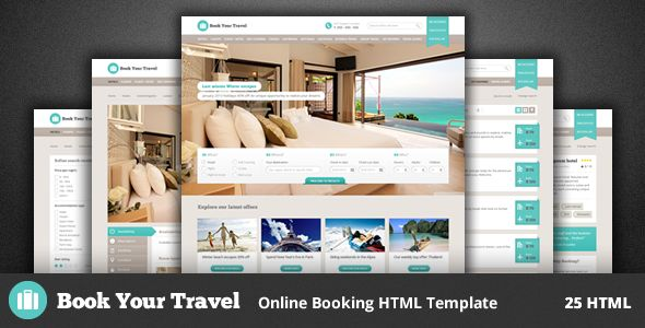 E book Your Journey – On-line Reserving HTML Template