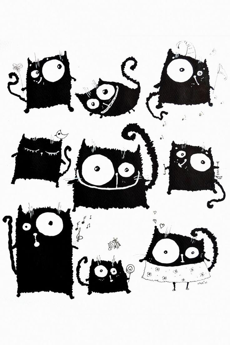 201 Кошачий мир. Рисунок Кати Чуйковой