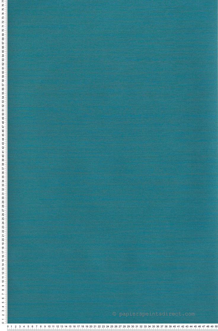 Faux unis Toile Bleu canard - papier peint Casadéco