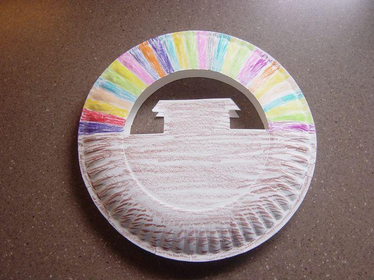 80 best 101 paper plates images on pinterest paper for Noah s ark preschool craft