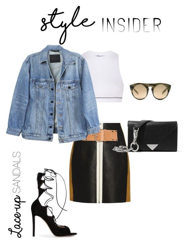 """""""Alexander Wang Laced Up!"""" by luluuheree on Polyvore featuring Alexander Wang, T By Alexander Wang, Y/Project, Gianvito Rossi, contestentry, laceupsandals and PVStyleInsiderContest"""
