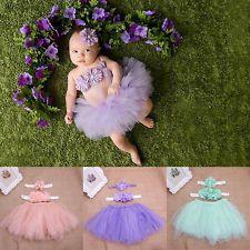 Flor del niño bebé niña ropa + Vincha + Foto De Falda Tutú De Disfraz de utilería trajes