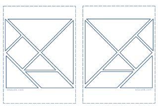 tangram contorno grueso