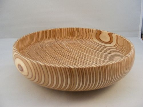 Turned Plywood Bowl