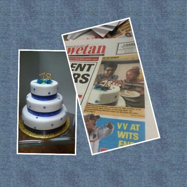Winnie Mandela enjoying her 78th birthday. Cake by The Cake Whizz!