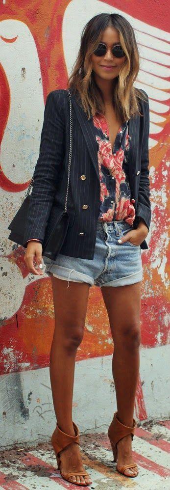 How To Wear a Blazer & Shorts