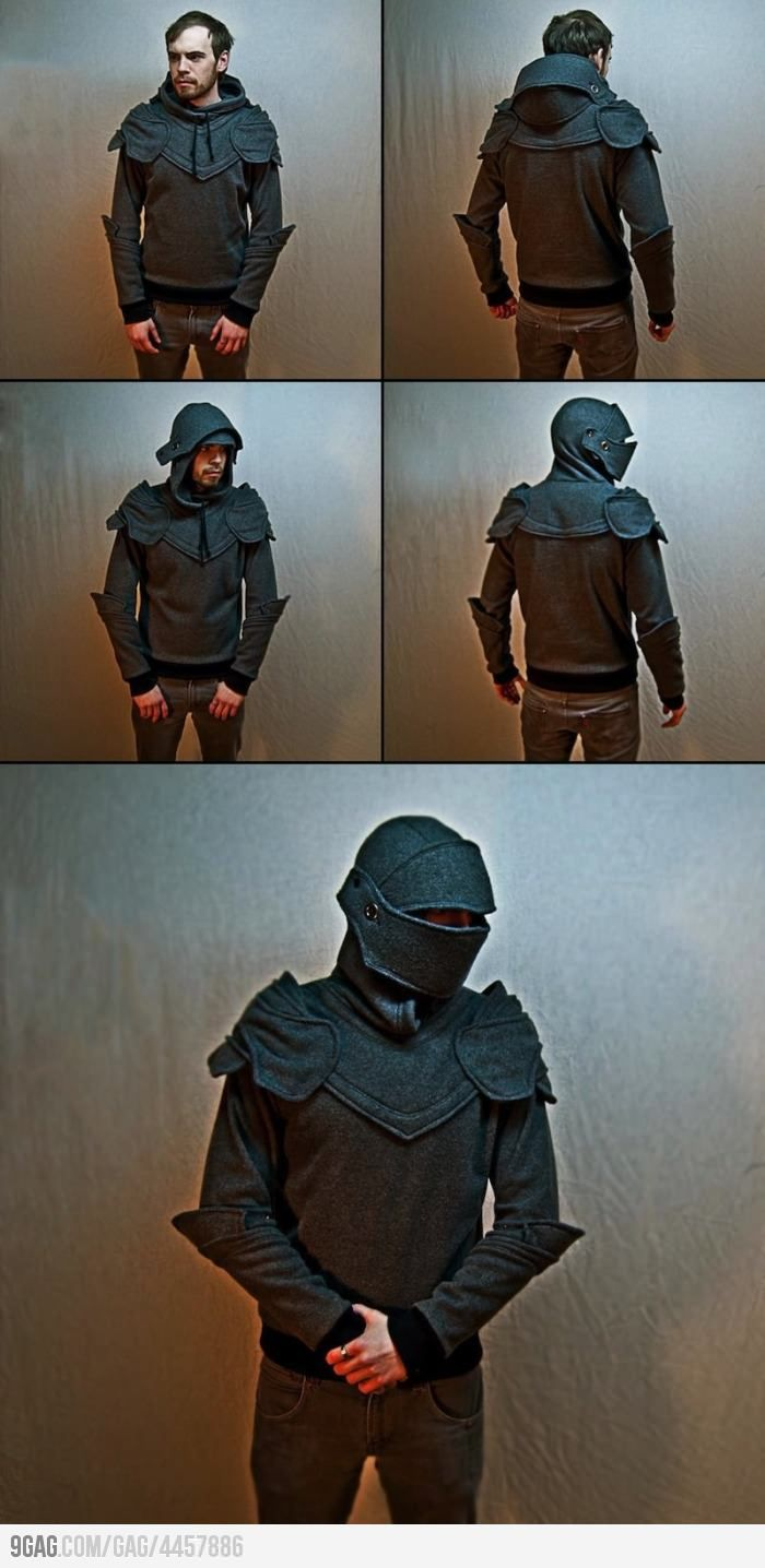 Men's Knight Jacket - with helmet! :D hehe, I love it!  So you mean I can have a real knight in shinning armor?! @Clare Moore