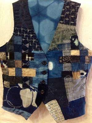 Another example of a wonderful vest from notjustnat creative blog: Boro Vest Update --- LoVe!