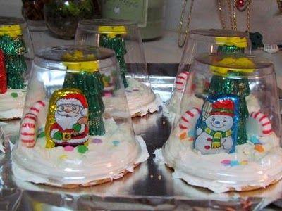 Edible Snowglobe Place Settings   Suzy's Artsy Craftsy SitcomSnowglobe Cookies, Birthday Treats, Cookies Treats, Winter Birthday