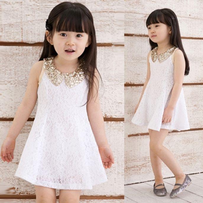 Molde Vestido Evasê Infantil Gola Peter Pan Tamanho 4 anos