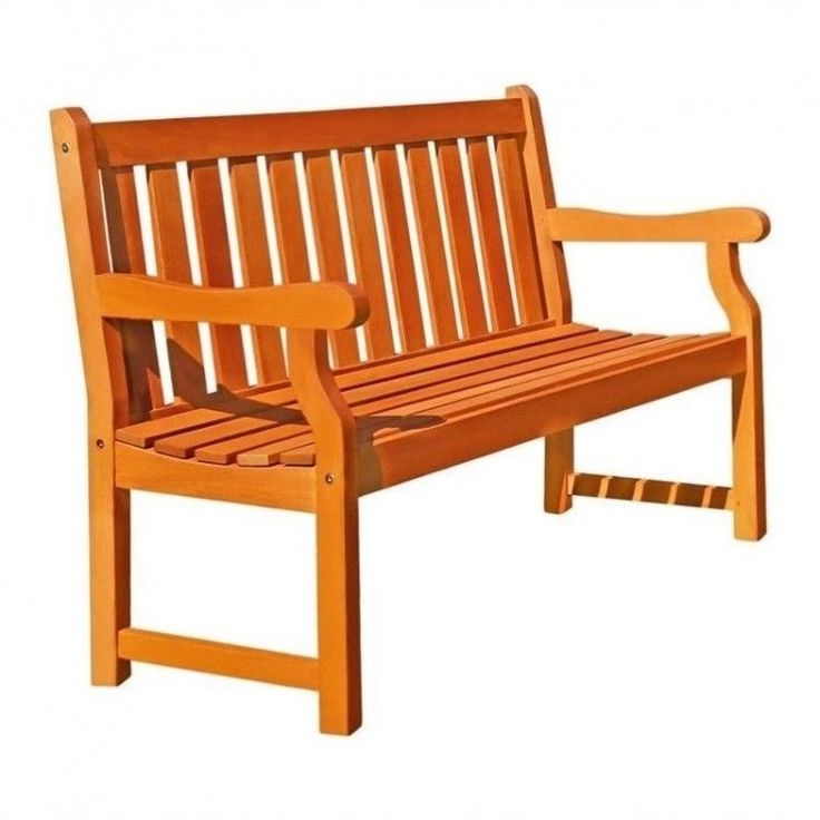 Outdoors Garden Bench 4 Ft Natural Wood Patio Furniture Porch Weather Resistant #OutdoorsGardenBench