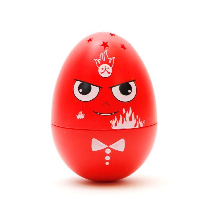 ECUBEE Hilandero de mano Rojo Huevo Fidget Gadget Gyro Roly-poli Juguete Música Estrella LED.