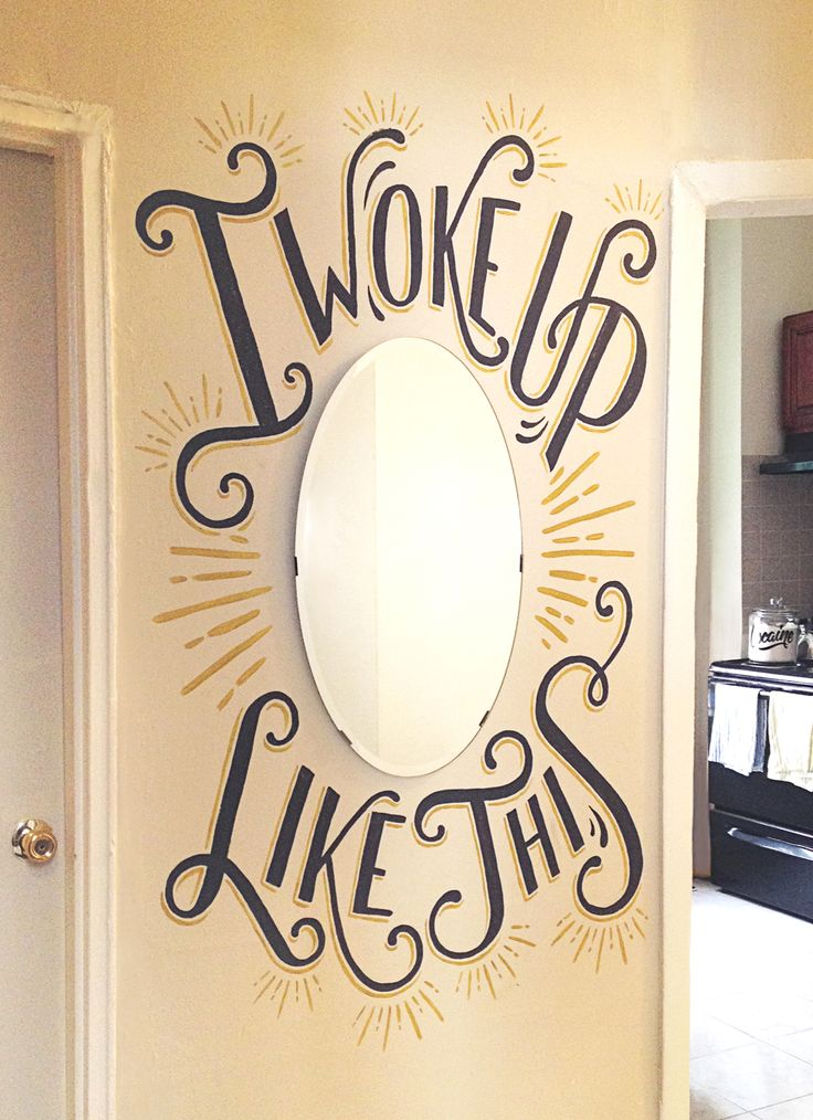 Flawless 'i woke up like dis' mirror design - home ideas - Beyonce - i need this in my life, amazing!
