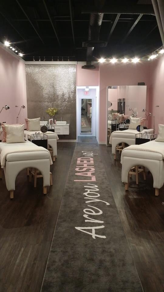 Lash studio- love the colour scheme!