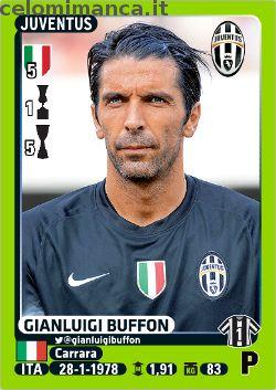 Calciatori 2014-2015: Fronte Figurina n. 238 Gianluigi Buffon
