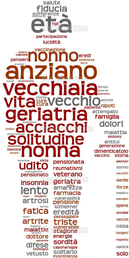 Learning Italian - Words related to being old