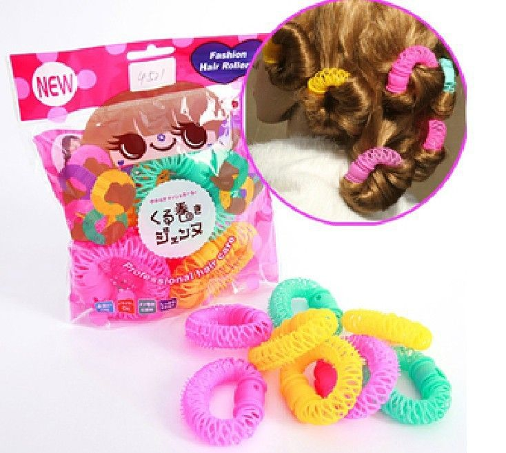 14 Pcs/Lot 2014 New Fashion Arrival Lucky Donuts Curly Hair Curls Roller Hair Styling Tools Hair Tool For Women