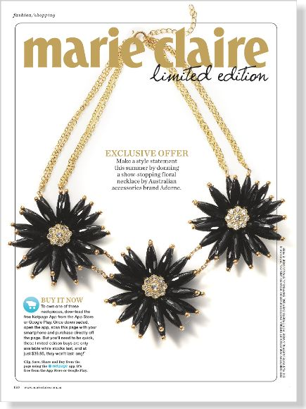 marie claire limited edition. Clipped from ©marie claire Australia using Netpage.