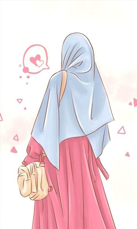 Hijab Cartoon Muslimah Wallpapers Hijab Cartoon Islamic Cartoon Girl Cartoon Cartoon hijab woman wallpaper