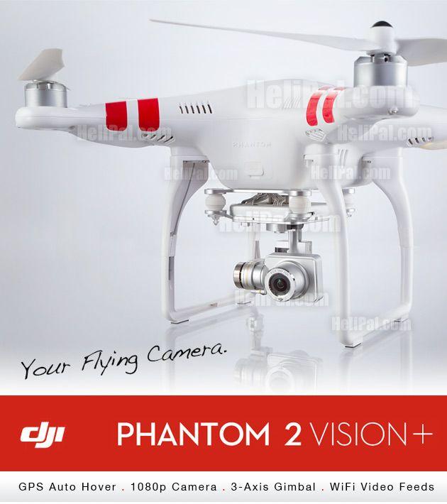 DJI Phantom 2 Vision+ GPS Drone (RTF) - DJI-Drone-Phantom-2-Vision-Plus