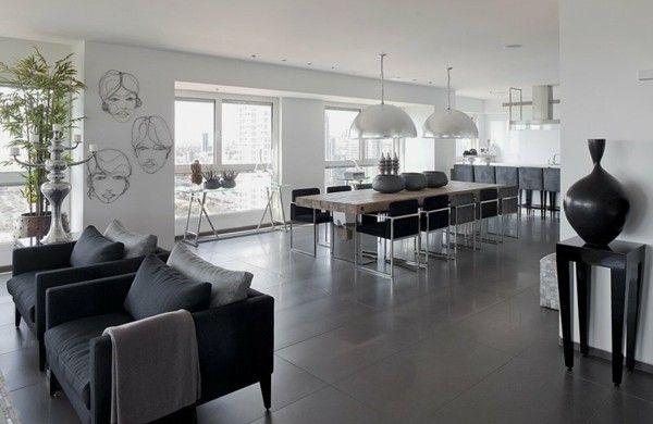 Modernes Wohnzimmer mit offener Küche Unbedingt kaufen - wohnzimmer mit offener küche