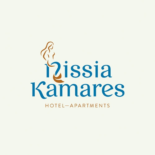 nissia kamares hotel identity redesign by gen design studio / logotype: Kasia Kaczmarek