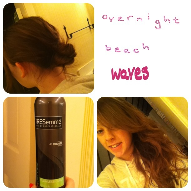 how to make your hair have beach waves overnight