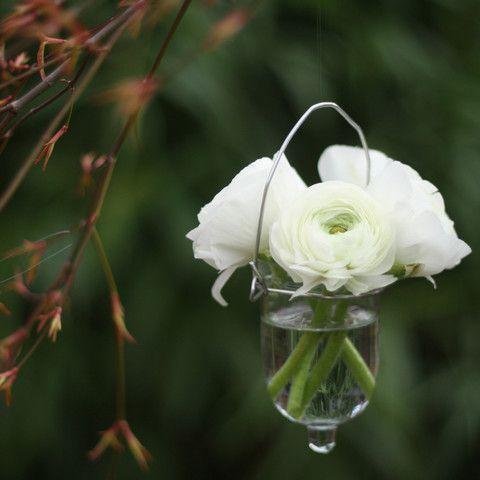 Hanging Glass Bud Vase Wedding - The Wedding of My Dreams