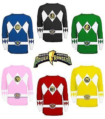 Commemorate your favorite cult classic with an awesome The Power Rangers Long Sleeve Costume T-shirt . Free shipping on Power Rangers orders over $50.