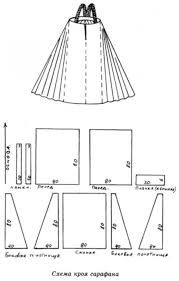 Картинки по запросу сколько ткани на русский сарафан надо