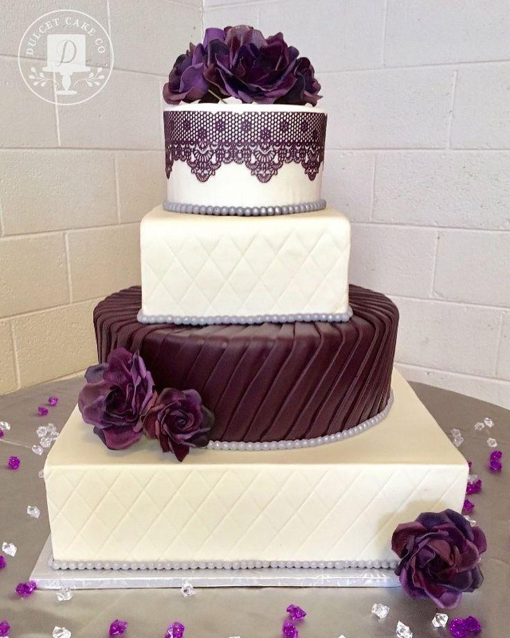 Purple wedding cake love cake lace mix sugarveil cake