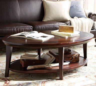 Metropolitan Oval Coffee Table #potterybarn