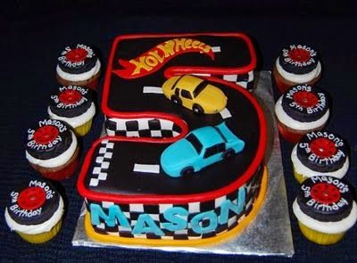 Hot Wheels Racing League: Hot Wheels Birthday Party Cakes - Number 5 #hotwheels #cakes