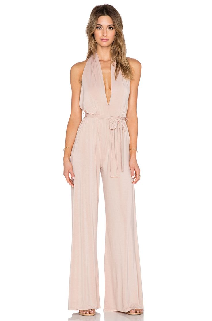THIS IS HOT! krisa Halterneck Jumpsuit in Nude