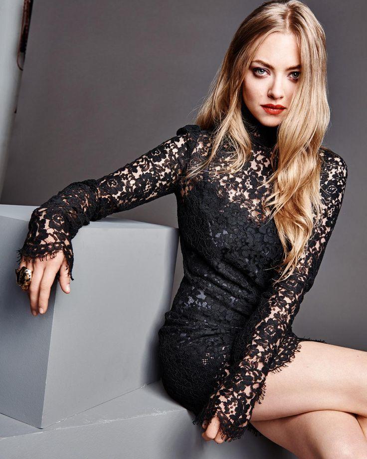 Amanda Seyfried, robe en dentelle Dolce & Gabbana