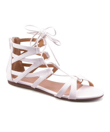 Love this White Cutout Gladiator Sandal on #zulily! #zulilyfinds