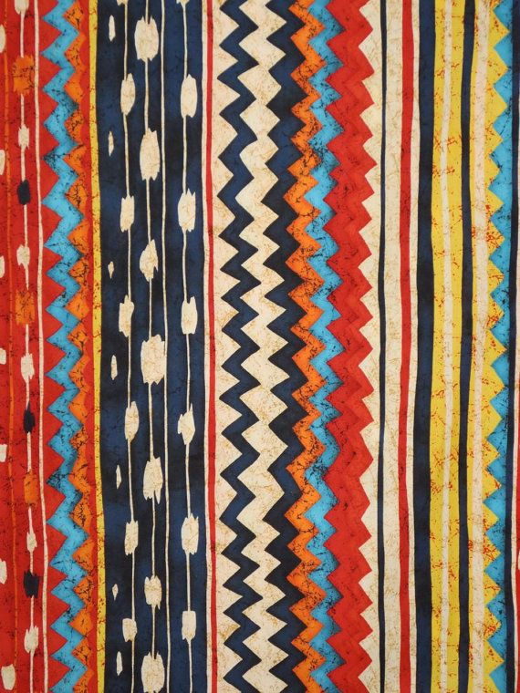 Colorful Kilim Stripe Print Pure Cotton by Alexander Henry @ fabricsandtrimmings