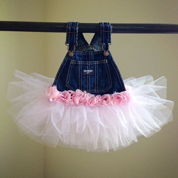 Cute baby shower gift idea! Tutu denim overalls!! #love