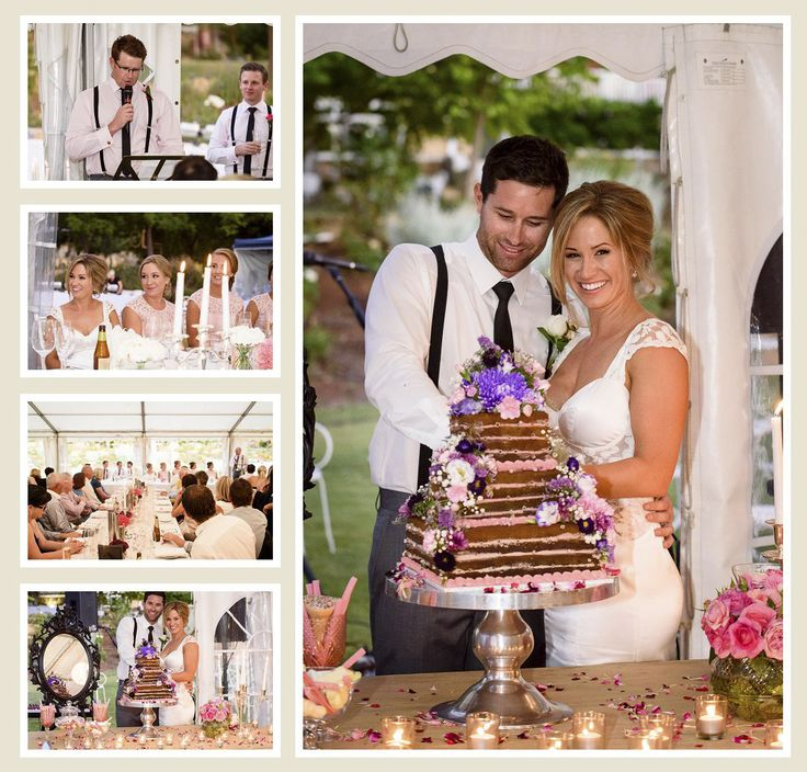 Celebrating their wedding in the marquee at Laurelville Manor, York, Western Australia
