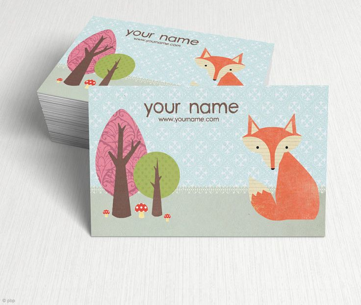 Handmade Fox Business Cards from pixelbypixel at Etsy