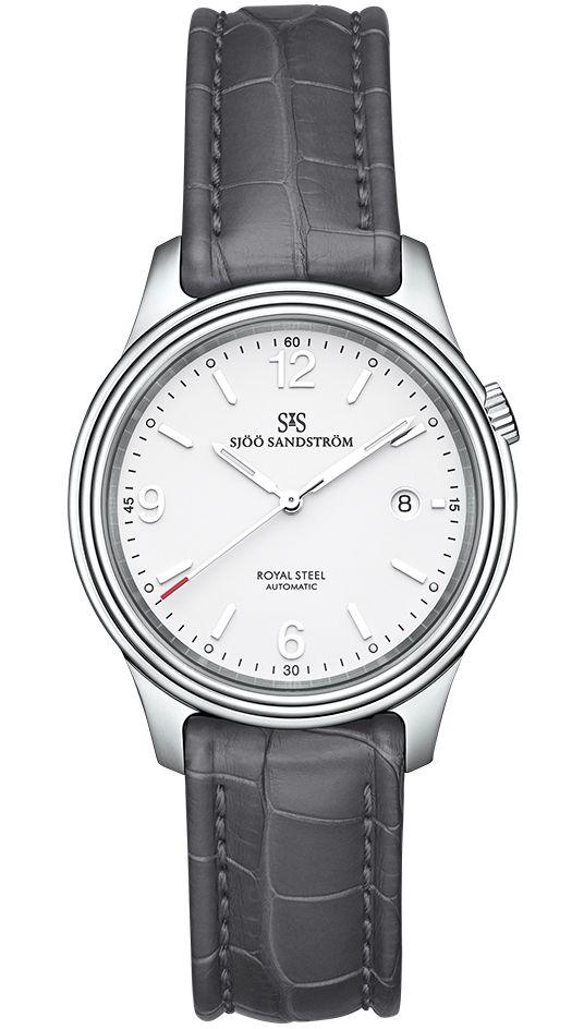 Royal Steel Classic 41 mm, white dial with grey alligator. #sjöösandström #sjoosandstrom #watch #watches #sweden #classic
