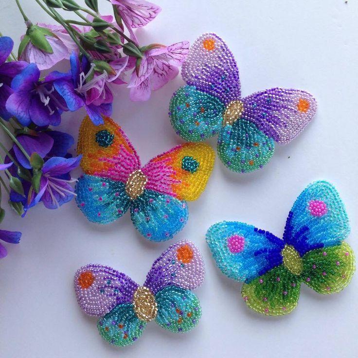 Best beaded butterflys images on pinterest