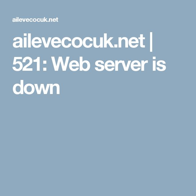 ailevecocuk.net | 521: Web server is down
