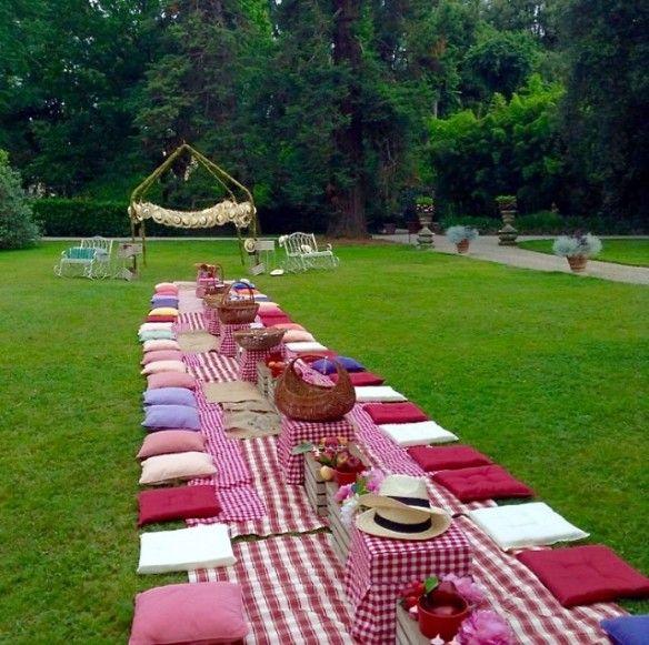 """Tem algo mais chic do que este """"picnic"""" ?"""