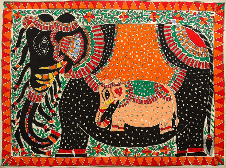 painted indian elephant drawing - Google Search